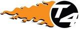 T4 Circle Flame Logo